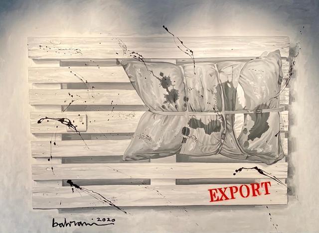 Ahmad Al Bahrani, 'Ready for Export / جاهز للتصدي', 2020, Painting, Acrylic on Canvas, al markhiya gallery