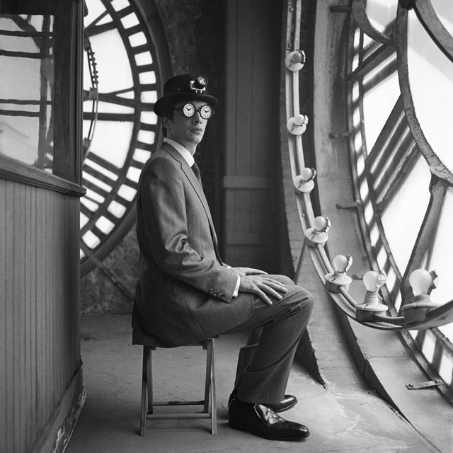 , 'Collin Seated with Clock Glasses, New York, New York,' 2005, Robert Klein Gallery