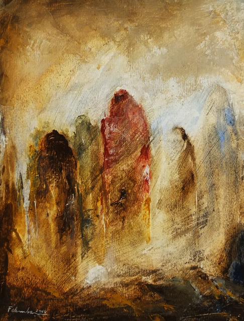 , 'Loneliness,, and Torment,' 2014, Hafez Gallery