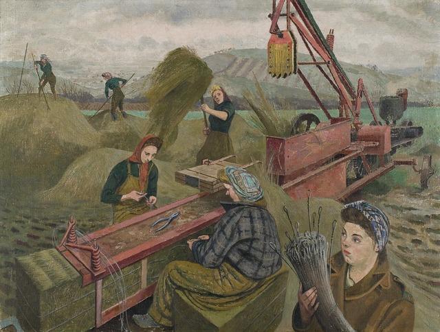 Evelyn Dunbar, 'Baling Hay', 1940, Princeton University Art Museum