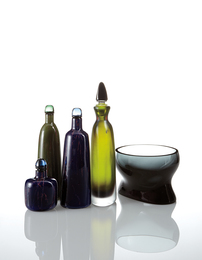 Venini, 'Four decanters and a bowl,' 1946-1966, Phillips: Design