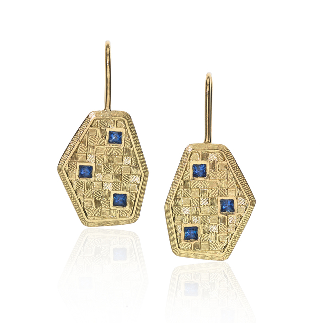, 'Cornflower Blue Sapphire 3D Earrings,' 2014, Szor Collections