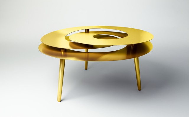 Janne Kyttanen, 'Rollercoaster Large Table (Gold Plated)', 2014, Gallery ALL