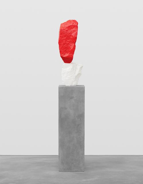 , 'red white mountain,' 2017, Galerie Eva Presenhuber