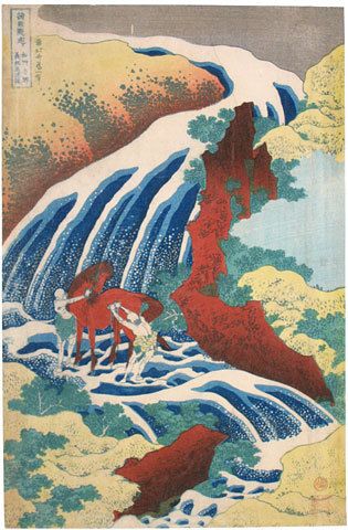 , 'A Journey to the Waterfalls in All the Provinces: Horse-Washing Falls,' ca. 1832, Scholten Japanese Art