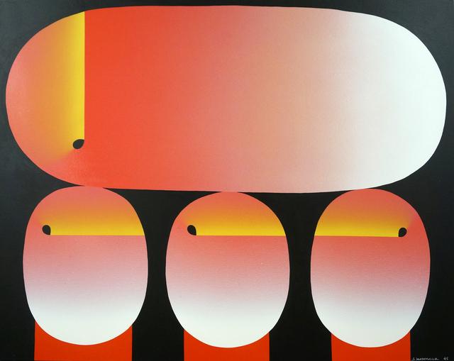 , 'あかながだえんとまるみっつ,' 1995, Aki Gallery