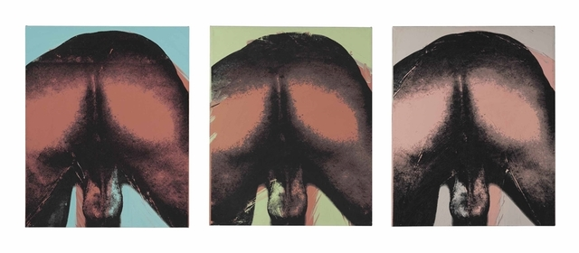 Andy Warhol, 'Male Torso (Buttocks)', Triptych—synthetic polymer and silkscreen inks on canvas, Christie's
