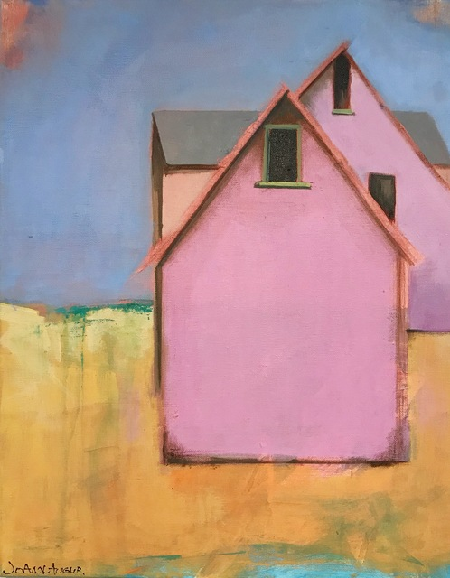 , 'Little Pink Barns,' 2018, {9} The Gallery
