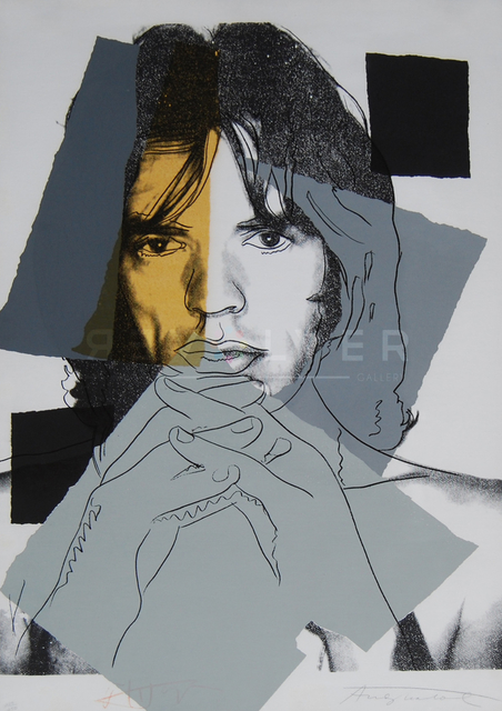 Andy Warhol, 'Mick Jagger (FS II.147)', 1975, Print, Screenprint on Arches Aquarelle (rough) paper., Revolver Gallery