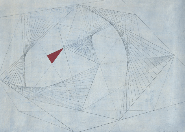 Barbara Hepworth, 'Red in Tension', 1941, Drawing, Collage or other Work on Paper, Pencil and gouache on paper, Tate Britain