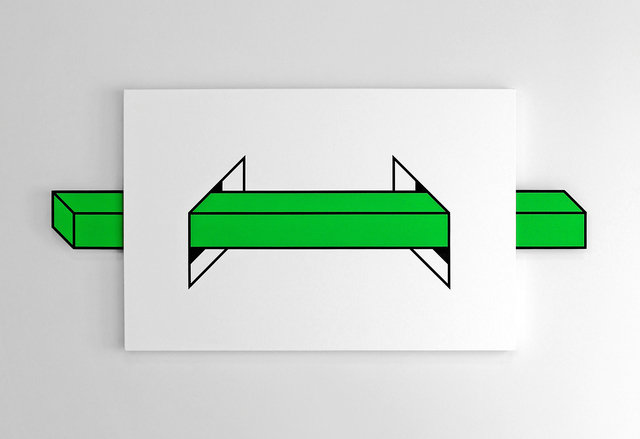 Aakash Nihalani, 'Passage (Green)', 2014, Mixed Media, Acrylic, flashe, mixed media, canvas, corrugated plastic, wood, and magnets, Aicon Gallery