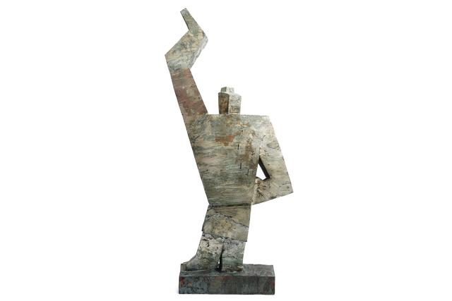 ", 'Japanese Wooden Scalpture ""隆々"",' , Yumekoubou Antique"