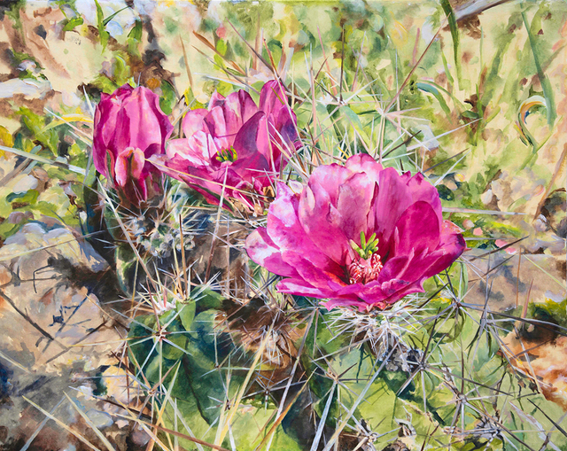 , 'Pink Cactus,' 2017, Valley House Gallery & Sculpture Garden