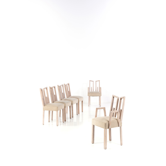 James Mont, 'Set of Four Chairs and Two Armchairs', circa 1940, PIASA