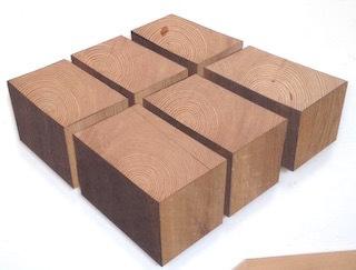 Robert Steng, 'Six Wooden Cubes', 2018, Galerie von Braunbehrens