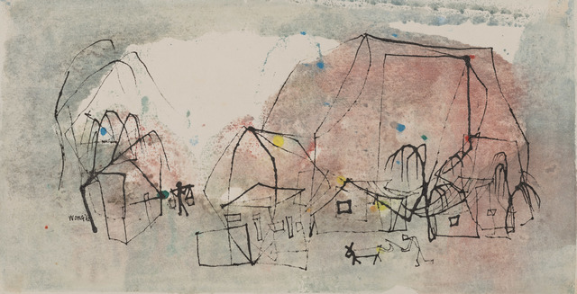 , 'Village life,' 1962, Art Museum of the Chinese University of Hong Kong
