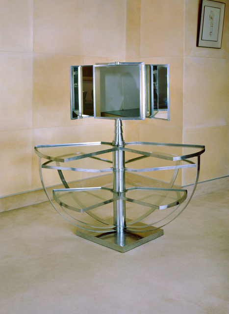 , 'Dressing table in chromed metal and glass,' 1927, Vallois SAS