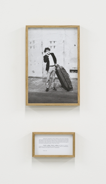 , 'Umetnik v prtljagi / Kurator v prtljagi (Artist in a suitcase / Curator in a suitcase), from the series Performances,' 2015, PROYECTOSMONCLOVA