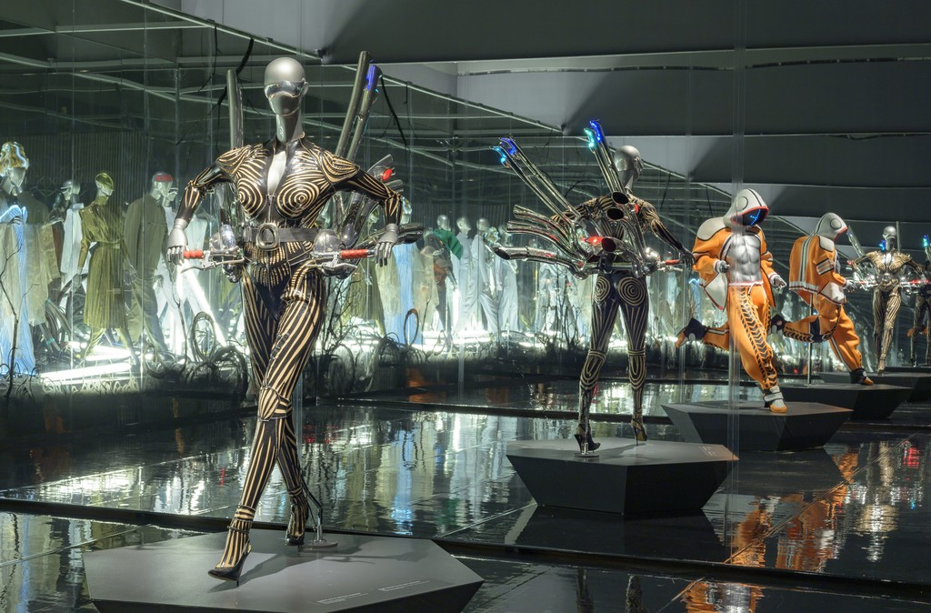 View of the exhibition Thierry Mugler: Couturissime. Montreal Museum of Fine Arts.  Photo MMFA, Denis Farley