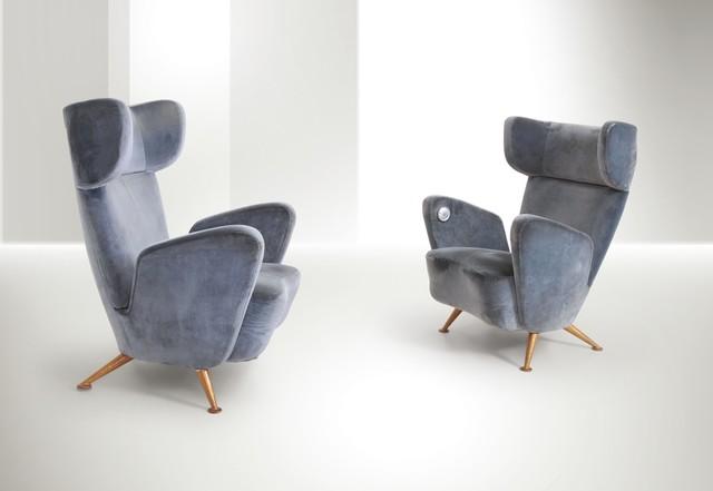 Gio Ponti, 'armchairs, Breda', 1950s, Cambi