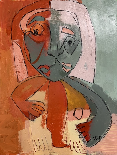 Vikki Drummond, 'MOTHER QUEEN OF HEARTS II', 2020, Painting, Acrylic on paper, ARTE funktional