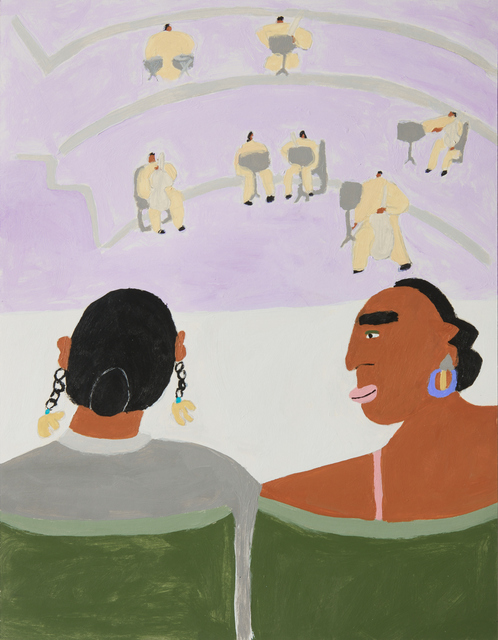 , 'Two Women Waiting For The Symphony,' 2018, Ochi Projects