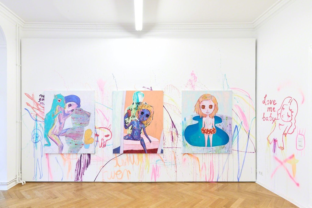 "Installation view. Yeo Kaa, ""Anxious Lustless Pechay"". September 24 - October 5, 2018. Photo: Hannes Wiedemann"