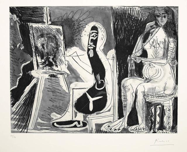 , 'Dans l'Atelier [Peintre avec le portrait d'un jeune garcon, dans son atelier],' 1963, Marlborough Gallery