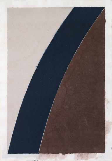 Ellsworth Kelly, 'Colored Paper Image XII (Blue Curve with Brown and Gray)', 1976, Upsilon Gallery