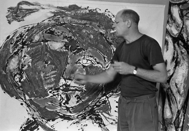 , 'Jackson Pollock painting at his home, East Hampton, 1953 ,' , Monroe Gallery of Photography