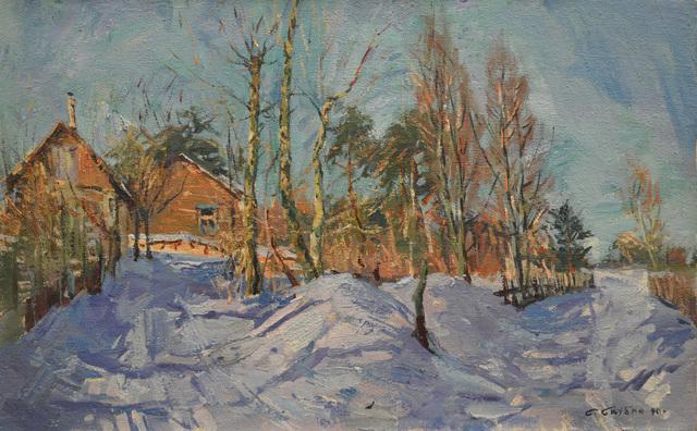 Sergey Mikhaylovich Skubko, 'Winter in a village', 1990, Surikov Foundation