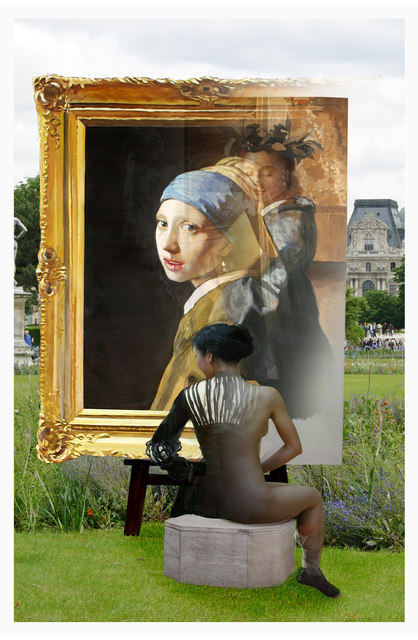 , 'The Costume of painter- Vermeer, pearl & flower,' 2012, Gallery Ihn