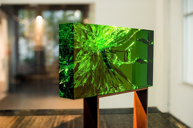 , 'EMERALD RADIANT FRACTOGRAPH #1,' 2018, Traver Gallery