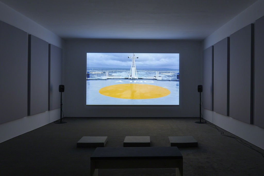 Charlotte Prodger, BRIDGIT, 2016, installation view, SculptureCenter, New York, 2017. Single-channel HD video. 32 minutes. Courtesy the artist, Hollybush Gardens, London and Koppe Astner, Glasgow. Photo: Kyle Knodell