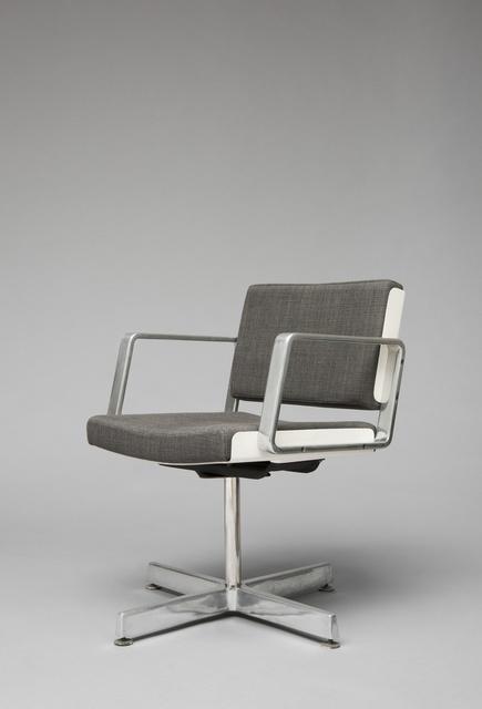 Alain Richard, 'Desk chair AR 1603', 1974, Design/Decorative Art, Lacquered reinforced polyesther, foam, fabric and cast aluminium, Galerie Pascal Cuisinier