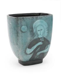 Figural vase