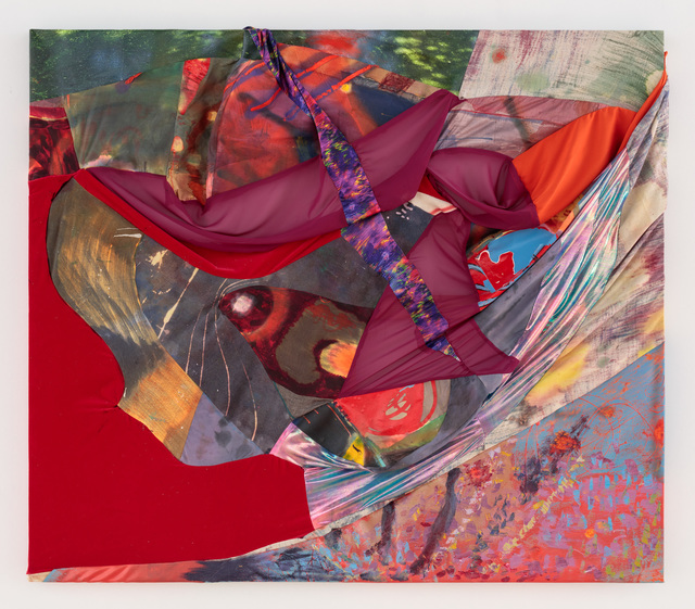 Molly Zuckerman-Hartung, 'Chaos and Cosmos', 2017, Painting, Polyester, spandex, velvet, canvas, voile, enamel, oil paint. Sewn., Rachel Uffner Gallery