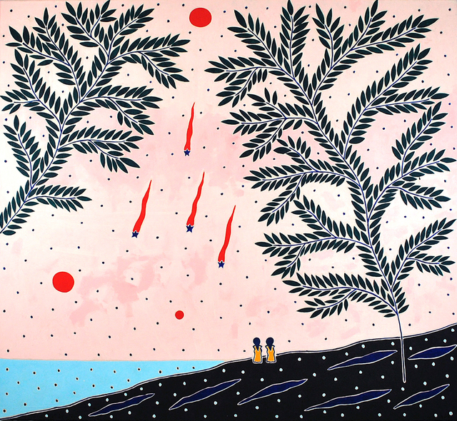Anders SCRMN Meisner, 'Star Gazers', 2020, Painting, Oil on canvas, Hans Alf Gallery