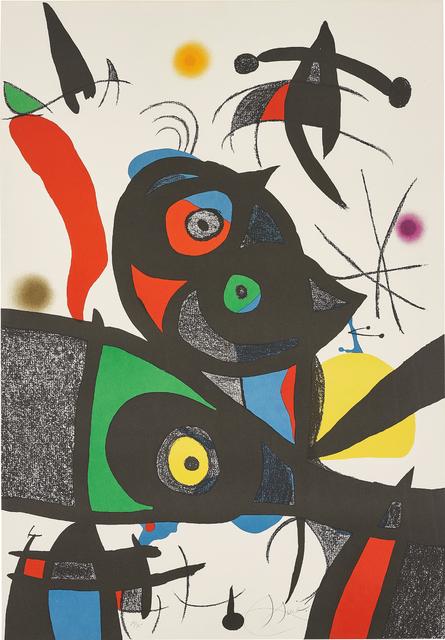 Joan Miró, 'Oda à Joan Miró (Ode to Joan Miró): plate III', 1973, Phillips
