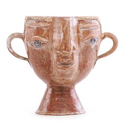Portrait vase with ear handles, Guerneville, CA