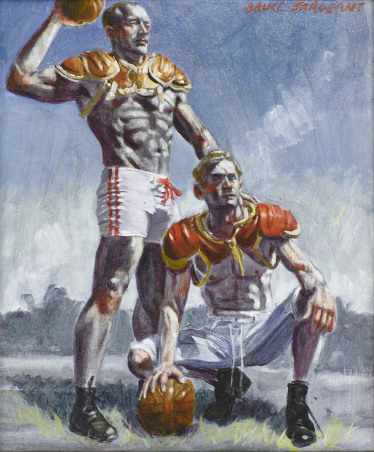 , 'Two Football Players,' date unknown, Carrie Haddad Gallery