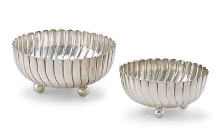 Sterling Silver Fluted Bowls