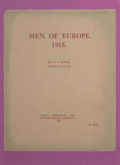 R. B. Kitaj, 'Men of Europe 1915', 1972, Print, Color screenprint and photo-screenprint, Capsule Gallery Auction