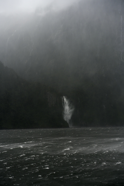 , 'A Sudden Squall, The Stirling Falls, Milford Sound, New Zealand, Autumn,' 2018, Huxley-Parlour