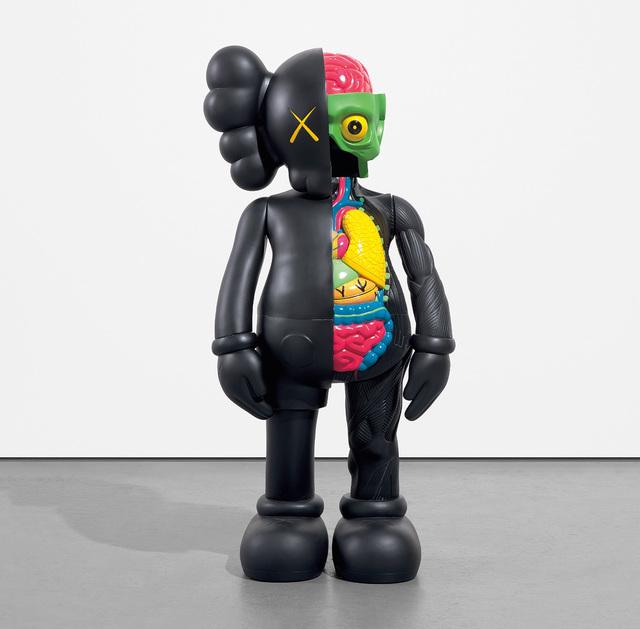KAWS, 'FOUR FOOT DISSECTED COMPANION (BLACK)', 2009, Sculpture, Painted cast vinyl, Phillips