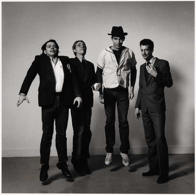 , 'Peter Hujar Jumping with Bill Rice, Larry Mitchell and Richard Morrison,' 1985, Alexander and Bonin