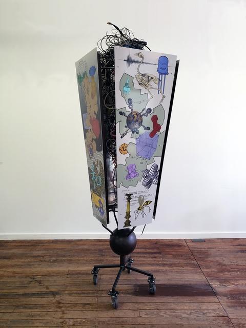 Charles Emlen, 'Alpha Channel', 2019, Sculpture, Steel, aluminum, wire, & high resolution graphics, InLiquid