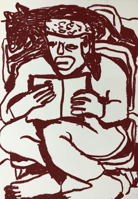 Conny Maier, 'D.F.W. LESEND MIT HUND', 2019, Ruttkowski;68