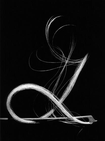 , 'Violin bow on black 1,' , Bernheimer Fine Art