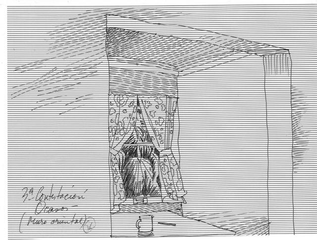 , '3ª contestación / ocasos / muro oriental,' 1971, Baró Galeria